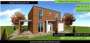 Maison Ossature Bois Toit Plat : plan et photo de maison avec etage ossature bois par architecte constructeur www ~ Melissatoandfro.com Idées de Décoration