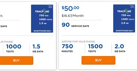 tracfone smartphone plans tracfone offers new 45 and 50 quot smartphone only quot refills