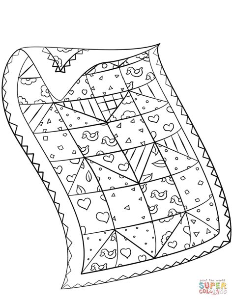 quilt coloring page free printable coloring pages