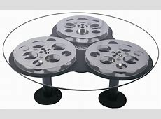 Triple Film Reel Coffee Table Home Theater Decor eBay