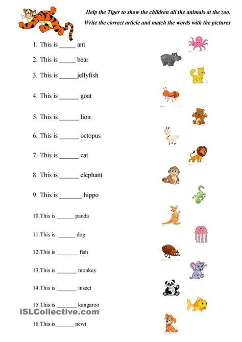 abc animals practice english worksheets  kindergarten