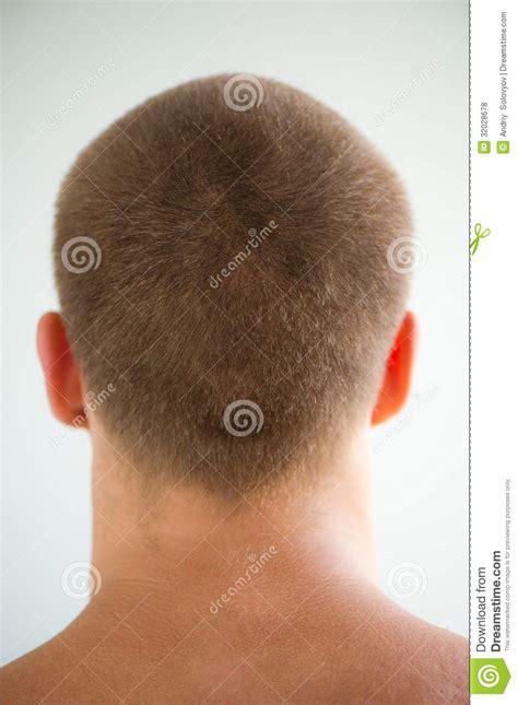 mans head  nape stock photo image  criminal style