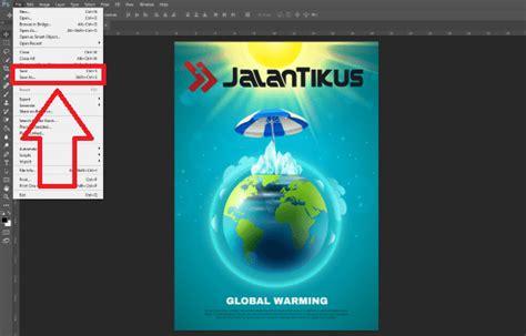 membuat poster  laptop hphasil