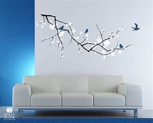 Tree branch cherry blossom wall decal with by