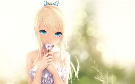 Anime Nature Blurred Anime Girls Soft Shading Bangs