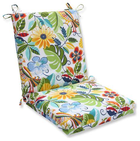 tropical outdoor pillows lensing garden squared corners chair cushion tropical