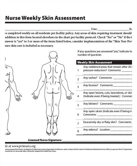 Wound Assessment Diagram by Skin Assessment Chart Pictures To Pin On Pinsdaddy