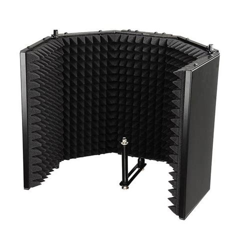 microphone isolation shield studio mounted absorber panel