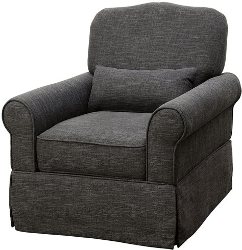 lesly gray 360 swivel glider reclining chair cm