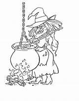 Witch Coloring Pages Creepy Printable sketch template
