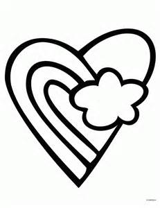 Rainbow Heart Coloring Pages Printable