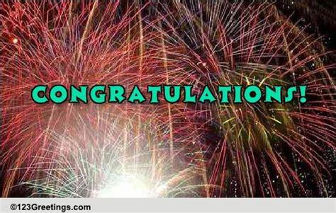 sparkling congratulations    ecards