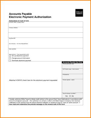 ach payment authorization form secure paystub