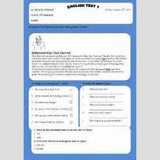 Troy Harvestreading Test  Esl Worksheet By Grimsim