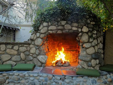 outdoor fireplaces pictures photos hgtv