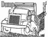 Coloring Truck Dump Semi Printable Trucks Garbage Drawing Finest Boys Getdrawings Unique Popular sketch template