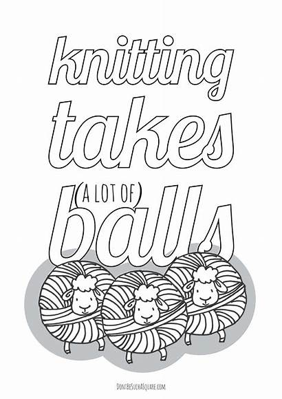 Knitting Coloring Balls Lot Takes Don Square