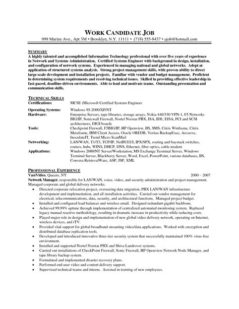 linux system administrator resume it resume cover letter