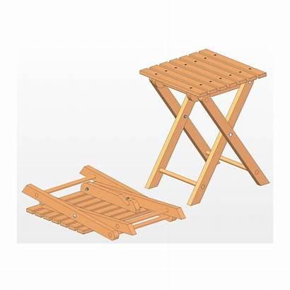 Stool Folding Plan Plans Wooden Stools Craftsmanspace