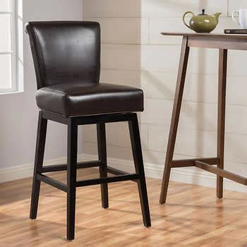 30 leather bar stools stenson 30 quot swivel barstool bonded leather 3868