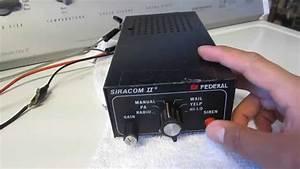 Vintage Federal Signal Siracom Ii Siren