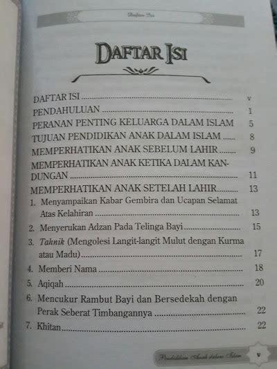 buku pendidikan anak  islam