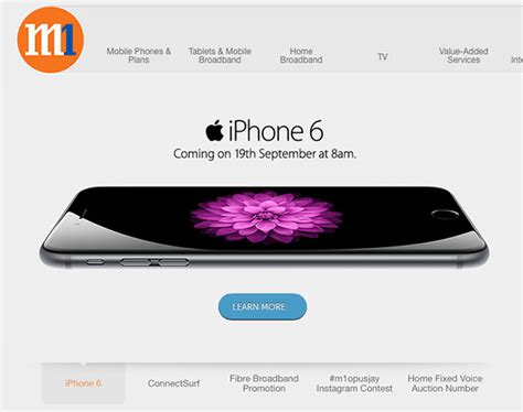 M1 Iphone 8 M1 To Offer Iphone 6 At 8am On Sep 19 Hardwarezone Com Sg