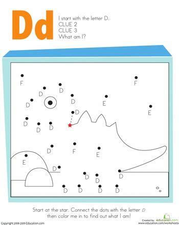 letter dot  dot  letter  worksheet letter  lettering