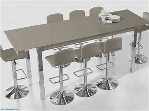 Table De Cuisine Haute : table de cuisine haute avec tabouret tabouret de bar ~ Dailycaller-alerts.com Idées de Décoration