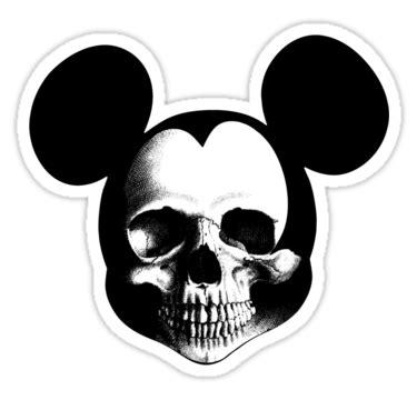 mickey | Pochoir silhouette, Tête de mort, Peinture