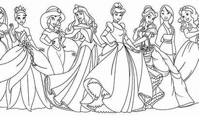 Coloring Disney Princesses Printable Princess Colouring Barbie