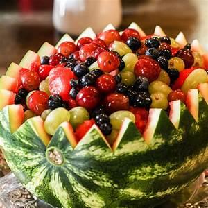 Watermelon Bowl Fruit Salad - Just a Little Bite