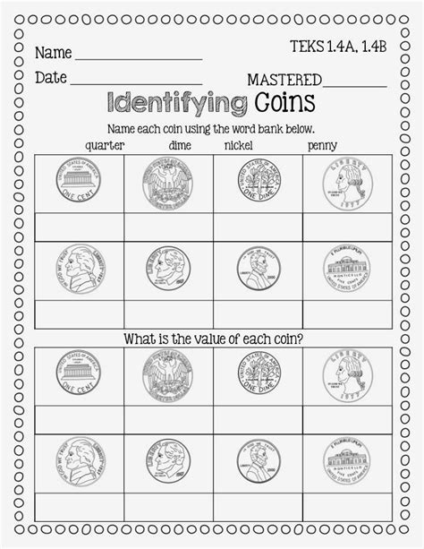 1000 ideas about money worksheets on pinterest teaching money money activities and second