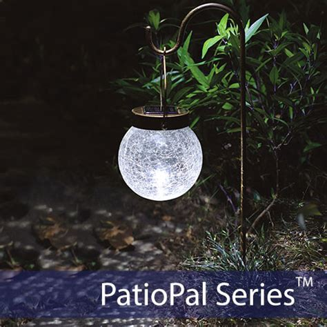 crackled globe hanging solar garden light shop solar