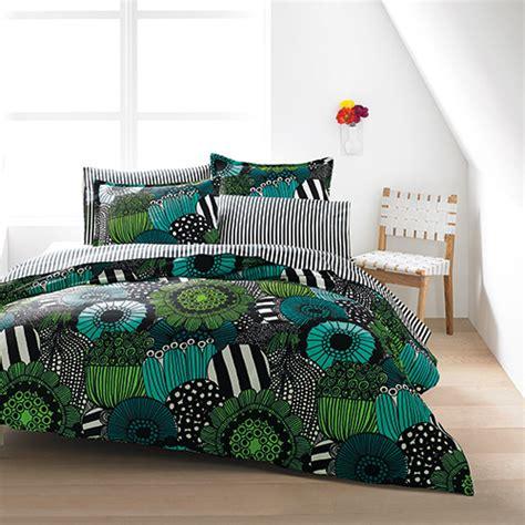 marimekko siirtolapuutarha green percale bedding