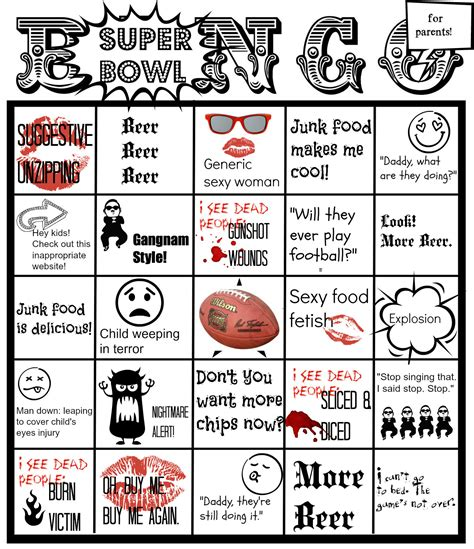 Sex Beer Blood Its Time For Super Bowl Ad Bingo The