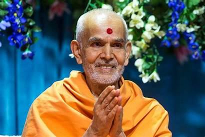 Swami Mahant Maharaj Hands Folded Baps Swamishri