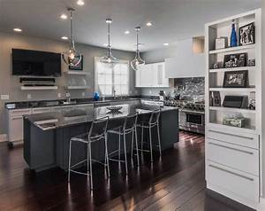 contemporary white kitchen in allentown pa morris black With kitchen cabinets lowes with penn state wall art