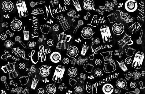Find images in png and svg with transparent background. Coffee Shop Wallpaper | Coffee Pattern Wallpaper| MuralsWallpaper