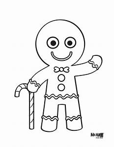 Free the gingerbread man coloring pages