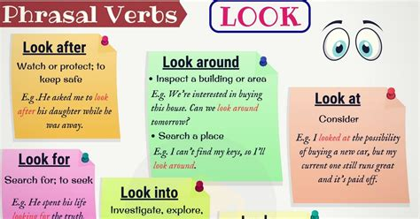 30+ Common Phrasal Verbs With Look (with Meaning And Examples)  7 E S L