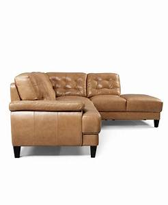 English tan leather sectional Low profile clean lines