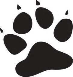 cat paw print cat paw print stencil clipart best