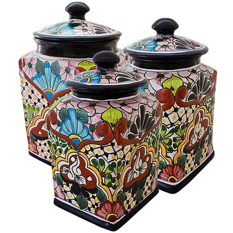 colorful kitchen canisters sets talavera kitchen canisters collection talavera kitchen
