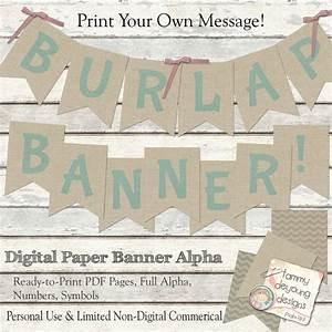 printable burlap banner burlap wedding banner nursery With burlap banner letters