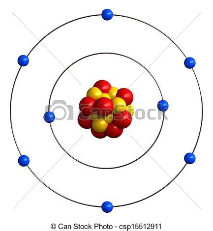 render  atomic structure  oxygen clipart search