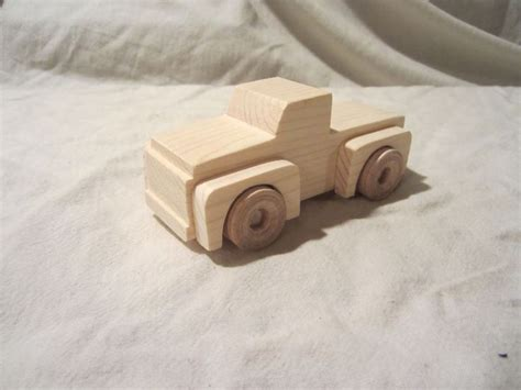 wooden pick  truck wood durable boy toy small girl child