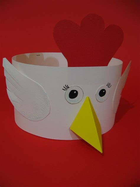267 best images about feestmutsen voor kleuters 820 | 21963a55fe0ab61906d9a5be73830942 rooster craft chicken hats for kids