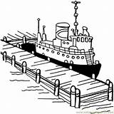Coloring Pier Boat Ship Cruise Pages Near Disney Drawings Coloringpages101 Structures Printable Titanic Getdrawings Getcolorings 01kb 651px sketch template