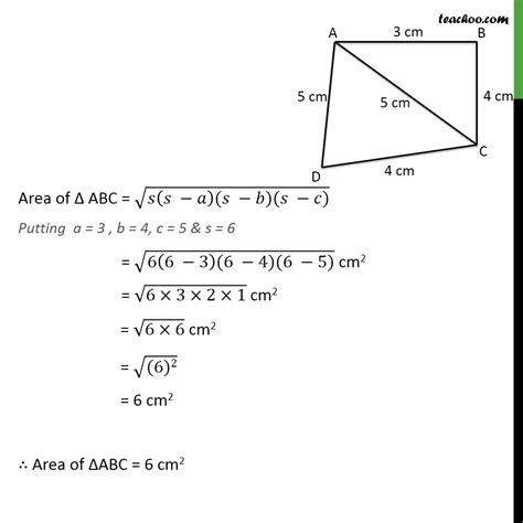 Ex 122, 2  Find Area Of A Quadrilateral Abcd In Which  Ex 122